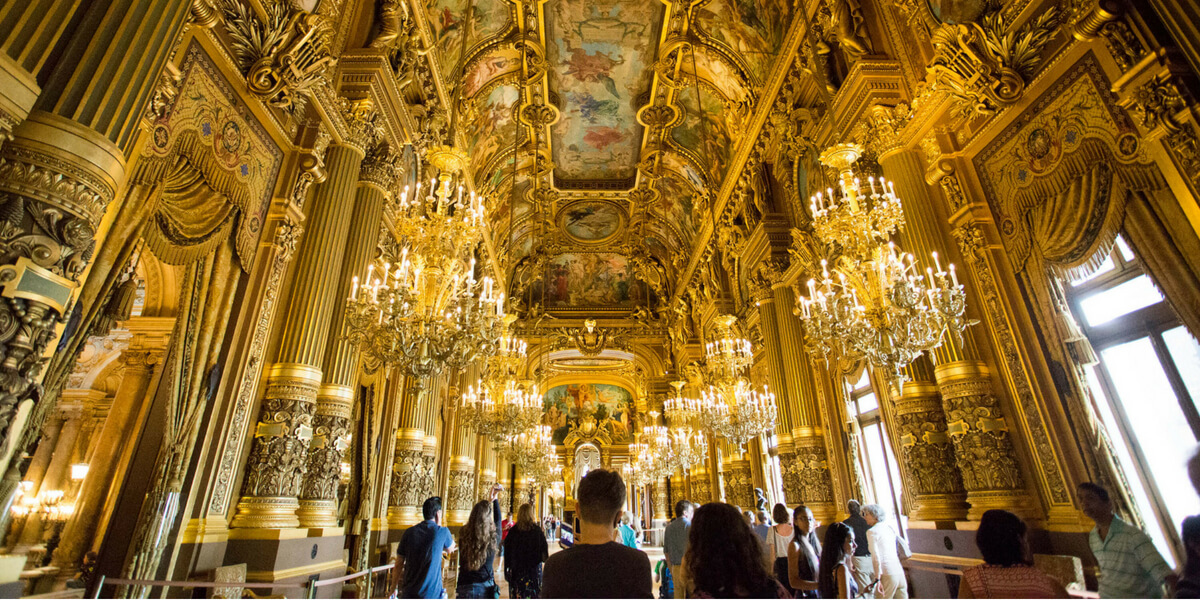 The Grand Ball room at the Opera Garnier
