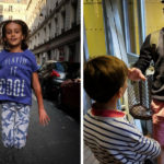 Paris with Children: Alex's children at the eiffel tower and jumping on a paris street