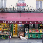 Little grocery cornerstore in Montparnasse called Au Marché de la Butte featured on the movie Amélie Poulain