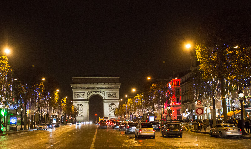 view of the champs elyses during the paris christmas market