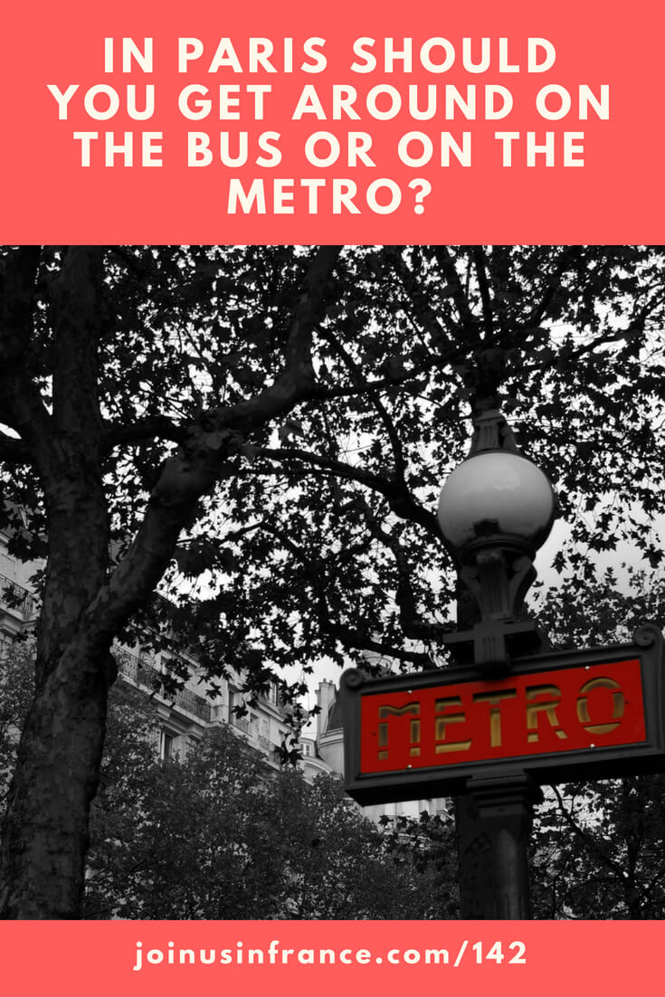 When in Paris, should you take the metro or should you take the bus? Is one better than the other? Which one is easiest for visitors who don't know the city? Residents of Paris love their metro system. Most of them will tell you that the metro is 100 times better. But we think that the right answer is more nuanced than that. Visitors are not trying to get to work as fast as possible, are they? Because visitors have different needs they can to make different choices.