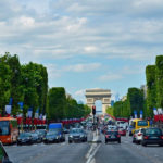 cars on the champs elysees in paris