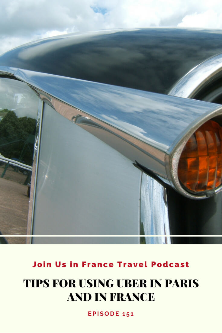 How do you get around Paris using Uber? 