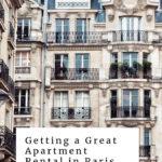Paris facade with apartments
