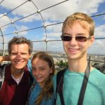 France with Teenagers: Henry, his sister and father.
