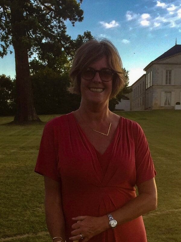 Muriel Craft at a chateau near Bordeaux