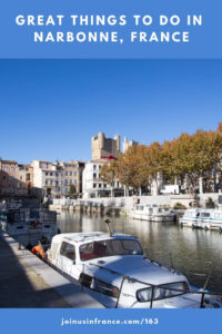 canal de la robine, unesco world heritage site that crosses the city of Narbonne