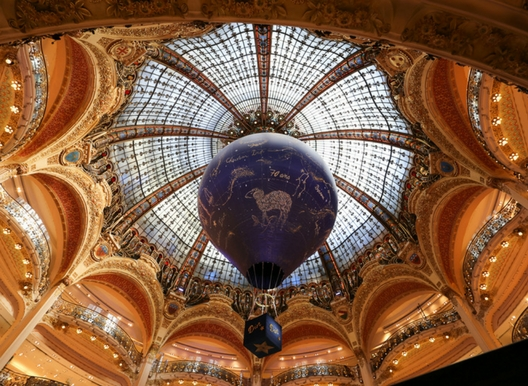 The cieling of the Galleries Lafayette on boulevard Hoffmann in Paris
