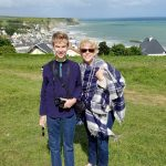 Normandy with Teenagers, Nancy and her son Henry