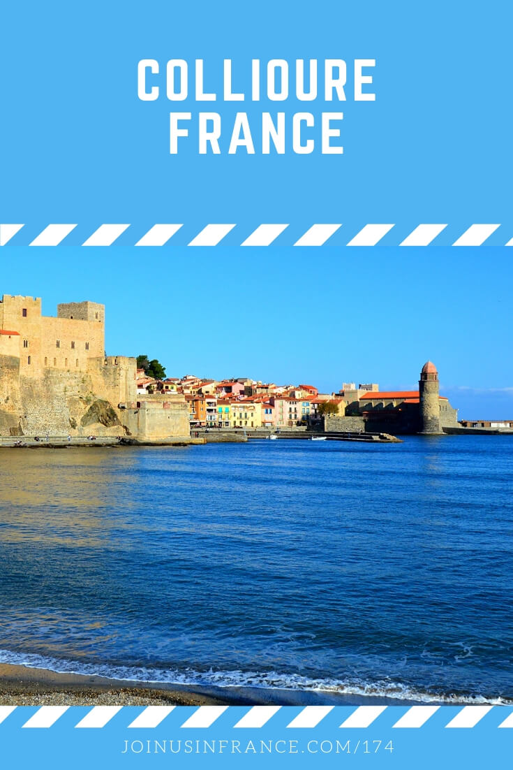 Looking for a scenic village near the Mediterranean sea? You should definitely consider Collioure, France. It's a small place that you can see in a day or two, unless you're French and you like spending 2 or 3 weeks there enjoying the beach! #collioure #beach #fort #rampart #joinusinfrancetravelpodcast #mediterranean
