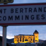 the Cathedral at Saint Bertrand de Comminges lit up at night