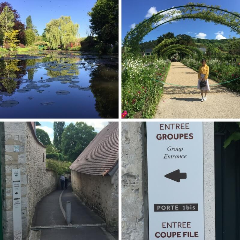 Signs to skip the line at Giverny; day trip to giverny