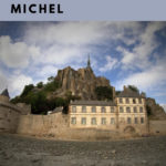 overall view of the Mont Saint Michel on a cloudy day