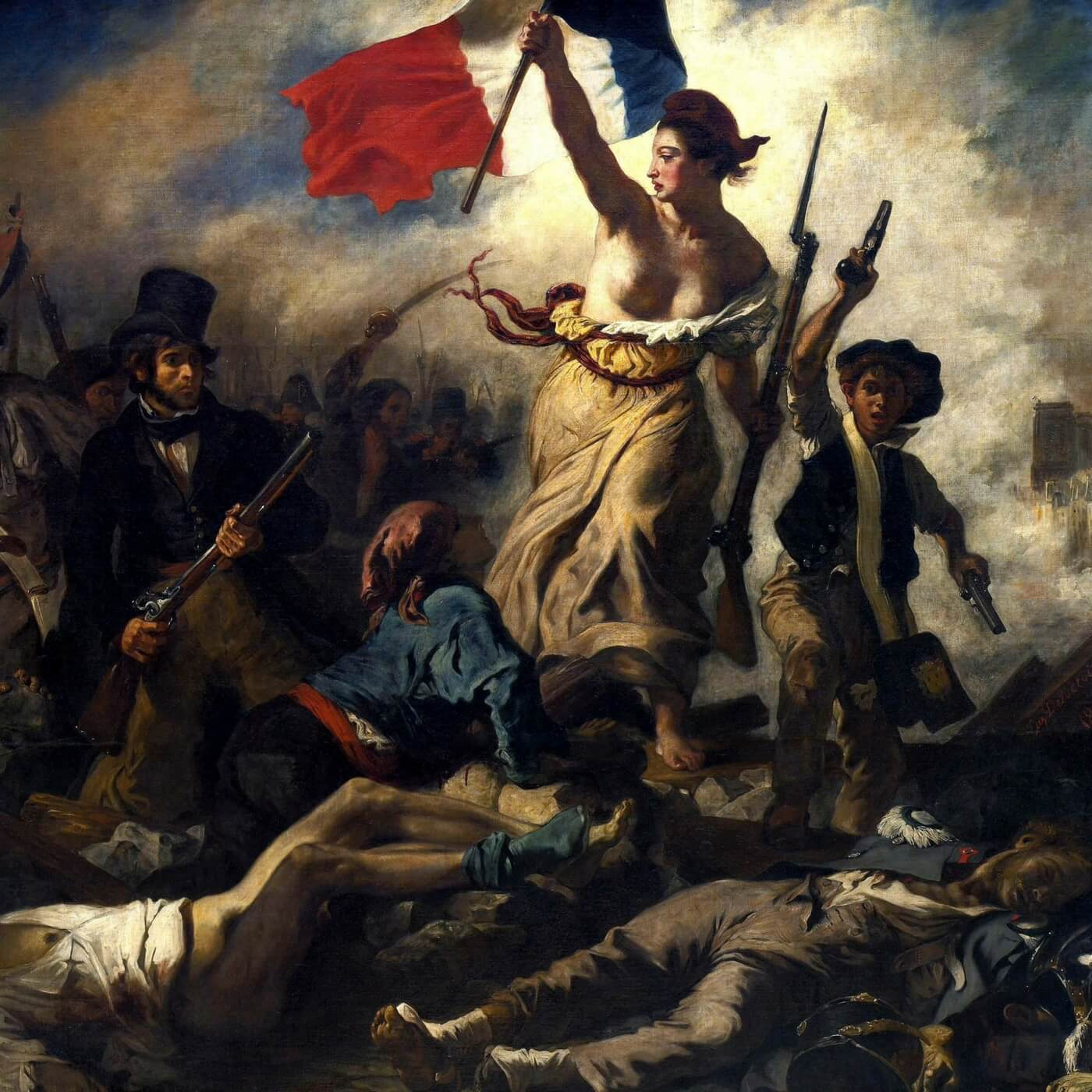 Liberty leading the people by Delacroix; the Hunchback of Notre Dame