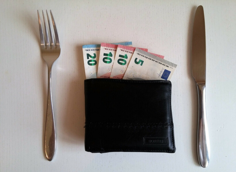 wallet, money, fork and knife; 10 things you didn't know about France but you should