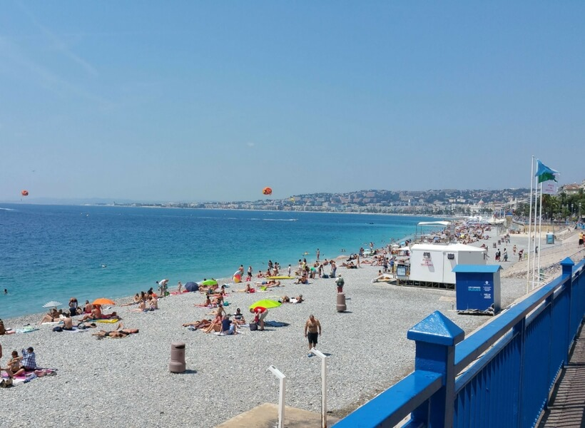 beach in Nice, France; 10 things you didn't know about France but you should