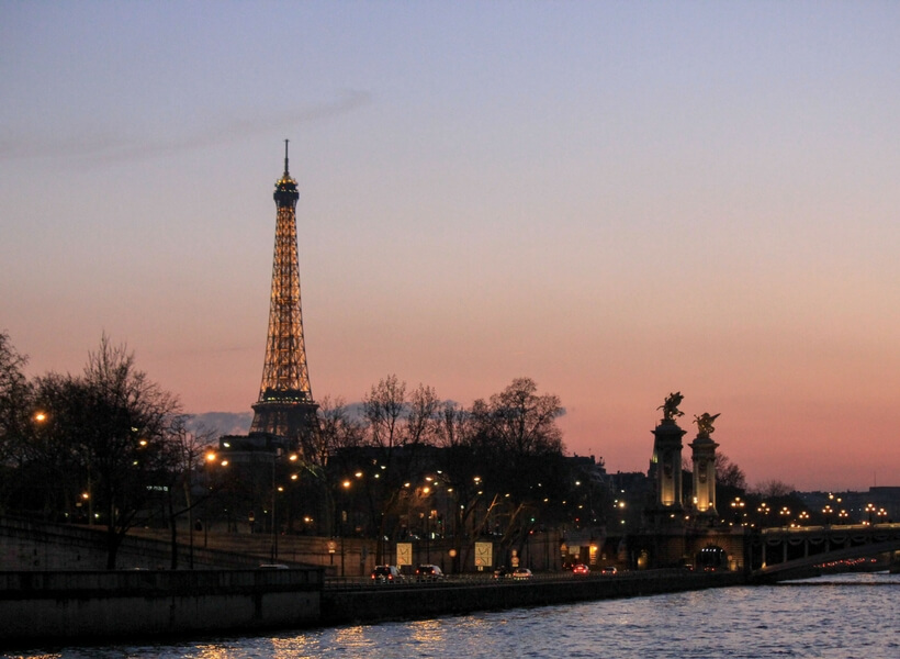10 things to do in paris for first time visitors; Eiffel Tower from the Bateaux Mouches