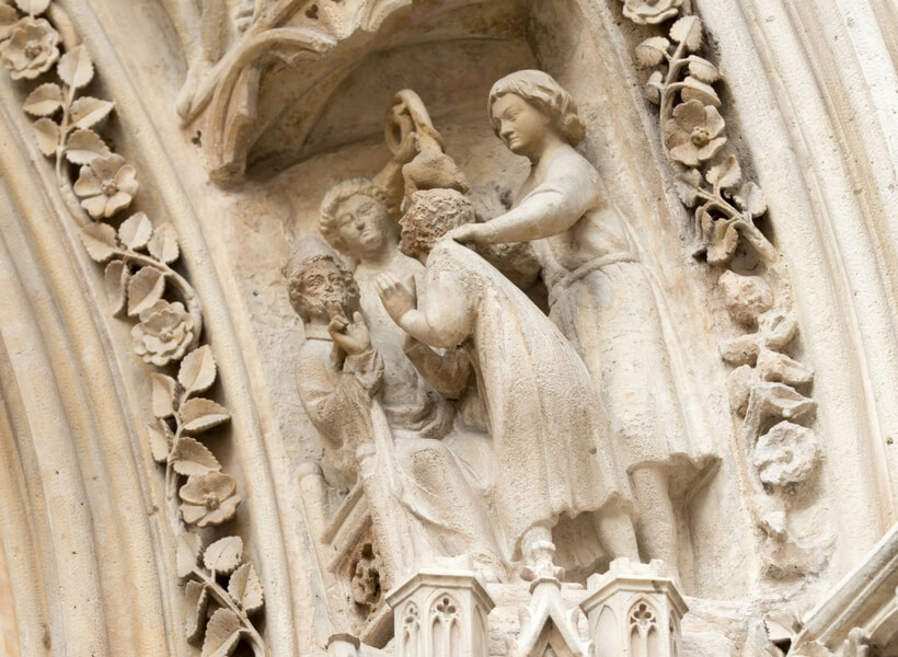 Detail of a statue on Notre Dame; Hunchback of Notre Dame