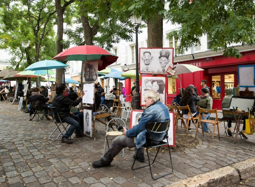 the lure of montmartre examined, episode 134, Artists on Place du Tertre