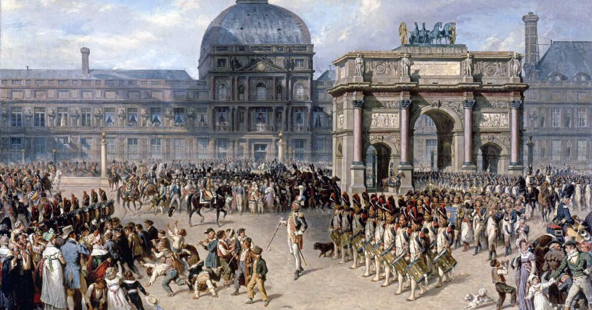Hippolyte Bellangé Un jour de revue sous l'Empire 1810: paris historical axis episode