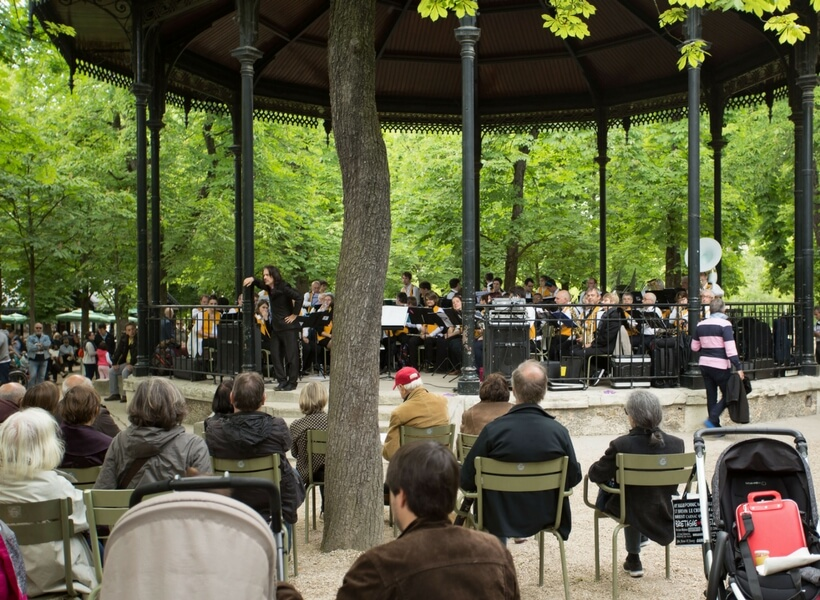 musical kiosk at the luxembourg garden