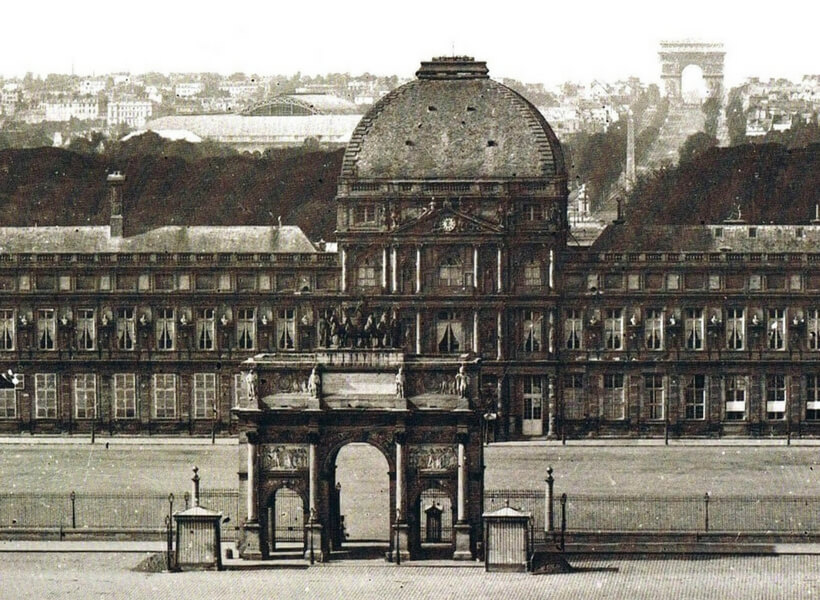 The Arc de Triomphe du Carrousel and the Tuileries Palace; Paris Historical Axis