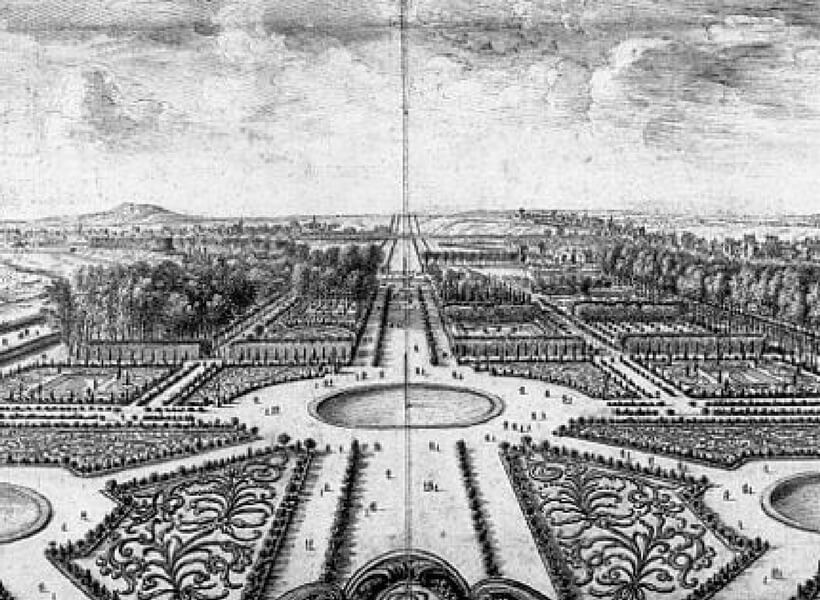 Symmetrical Layout of the Tuileries Gardens; Paris Historical Axis