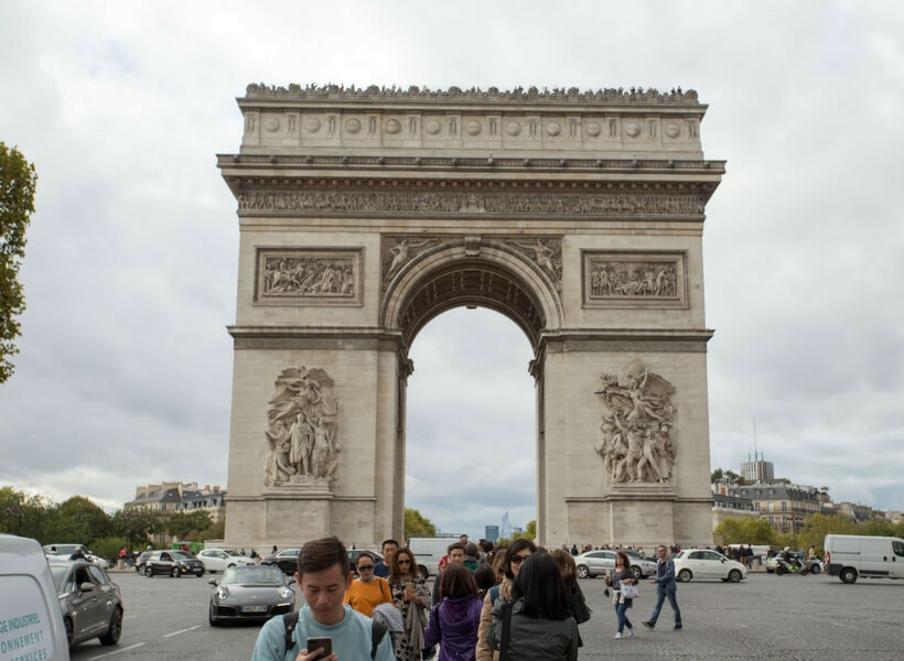 Arc de Triomphe de l'Étoile; Paris Historical Axis