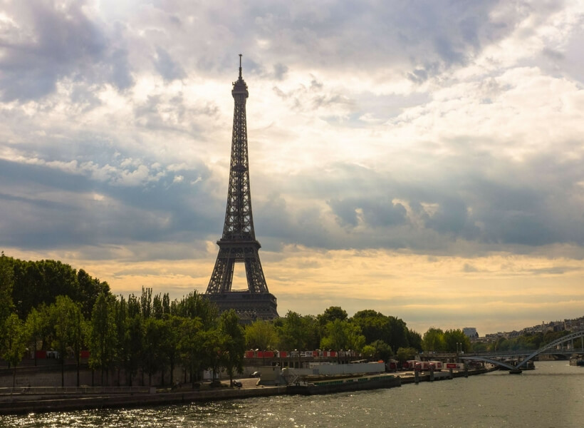 seine river and eiffel tower: one day in paris