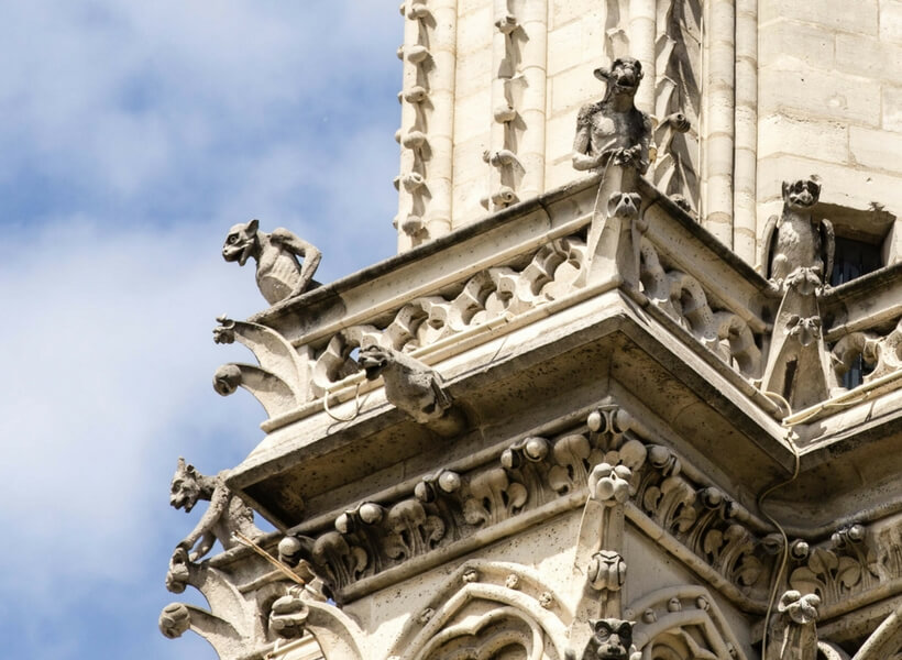 gargoyles on notre dame cathedral; paris highlights