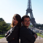 Anna and Emmanuel, founders of TripAside; layover in Paris