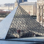 pyramid of the louvre seen from inside the louvre museum