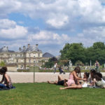 people having a picnic in paris at the Luxembourg Gardens