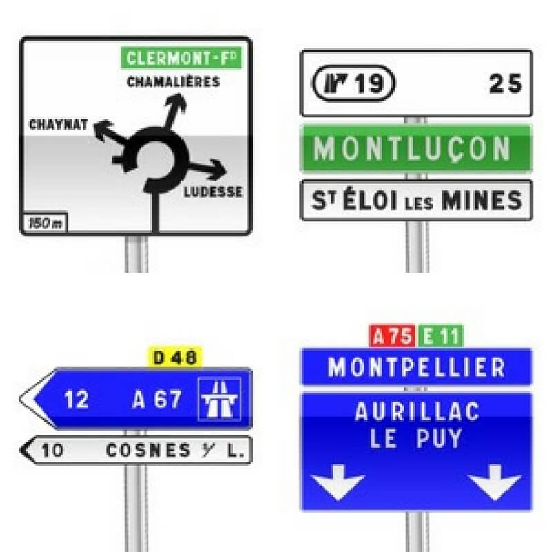 direction signs in france; what is it like driving in france