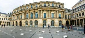 Overall view of the Colonnes de Buren at the Palais Royal