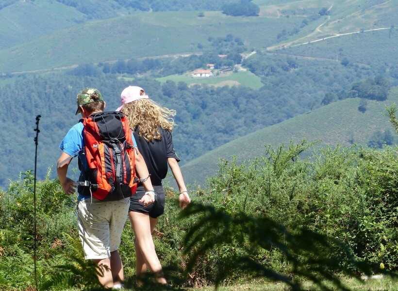 man and woman hiking in france, active vacations in france