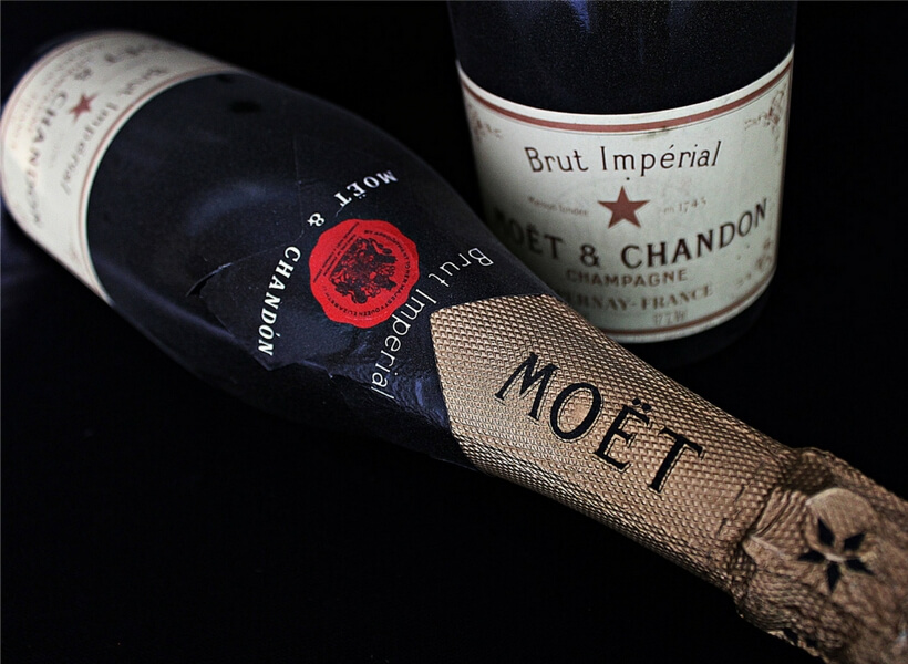 Moët champagne bottle; day trip to Reims from Paris