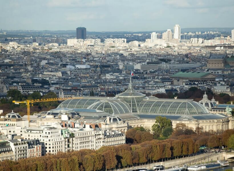 Grand Palais seen from the top of the Eiffel Tower