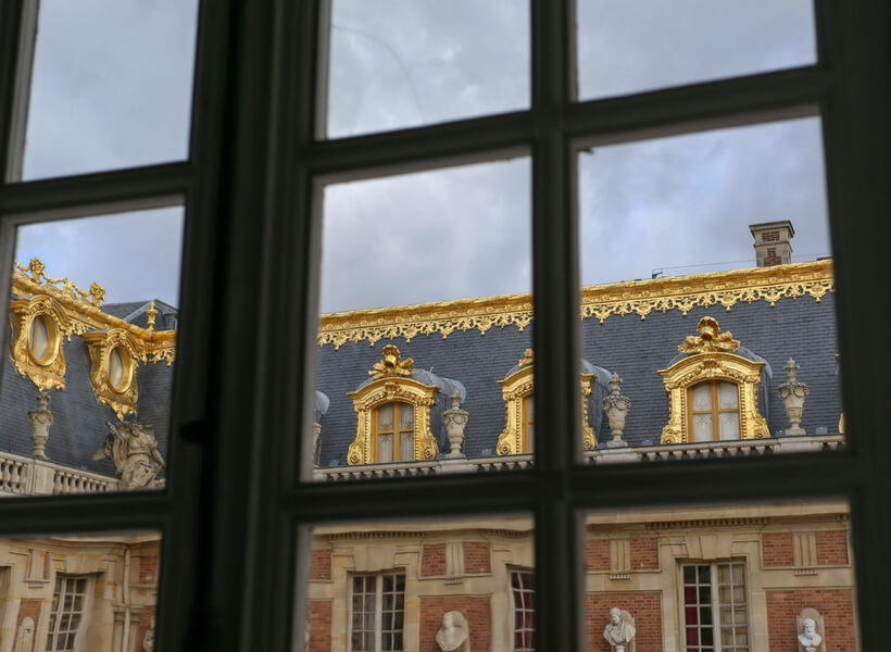 mansarde windows at Versailles; day trip to versailles from paris