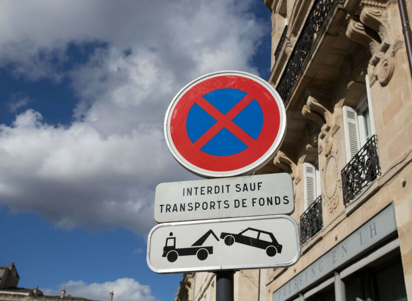 no parking no stopping sign in france; is renting a car in france worth the trouble