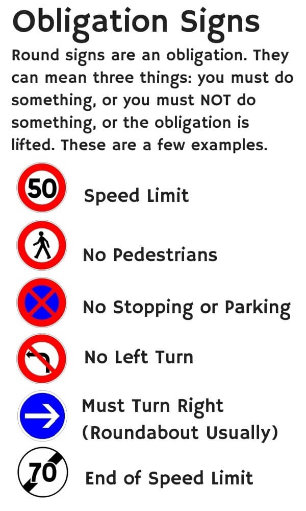 obligation signs drivers may encounter in france