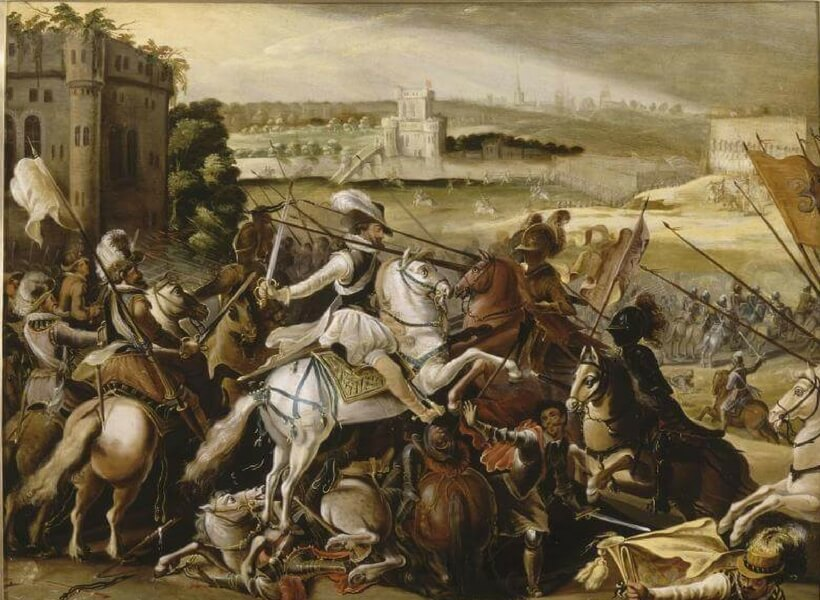 henri iv at the battle of Arques on Sept 21, 1589