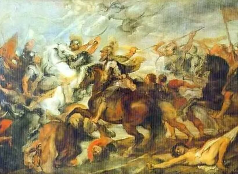Henri IV at the Battle of Ivry by Rubens