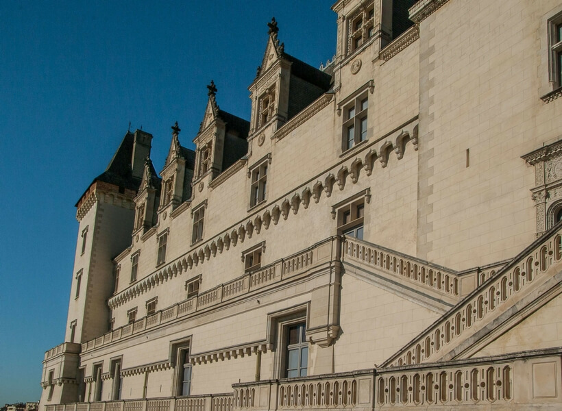 side view of the chateau of pau