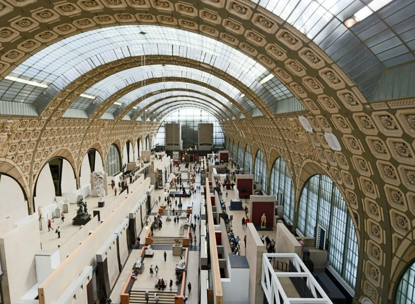 general view of the inside of the orsay museum