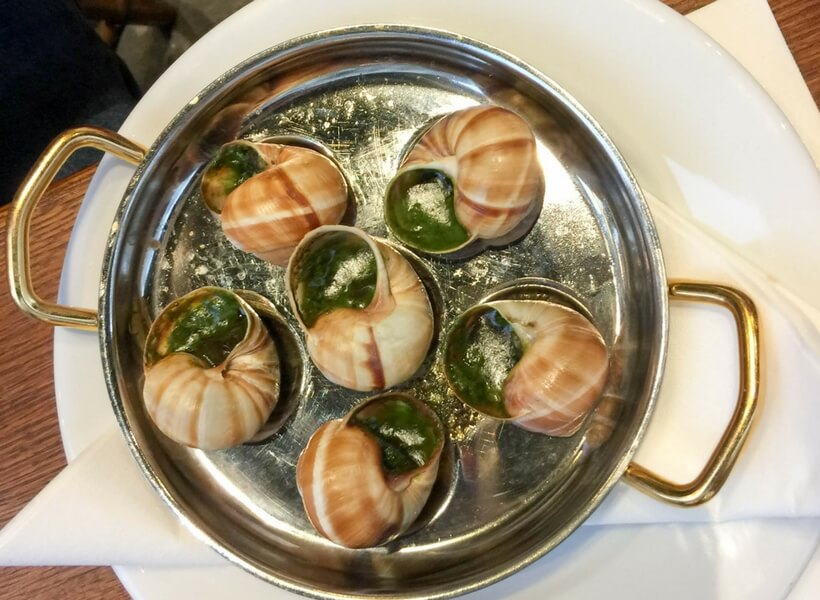 dish of escargots at a restaurant