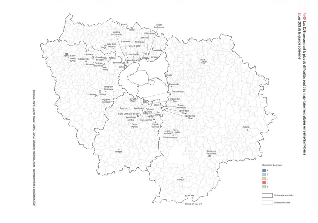 map that shows where all public housing projects are located around paris
