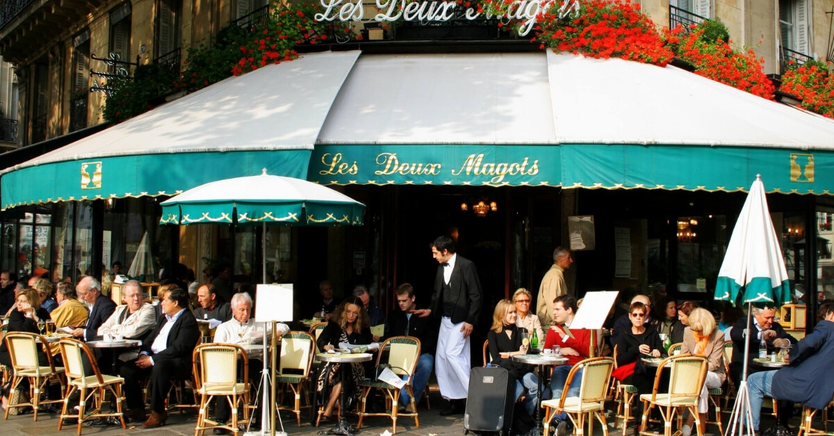 café de flore on boulevard saint-germain