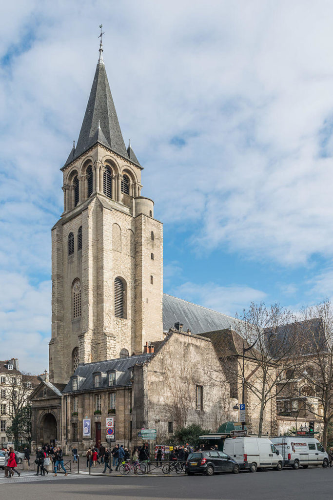 saint germain des près church and tower from the year 1000.