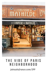 Le Comptoire de Mathilde in Paris: vibe of paris neighborhoods